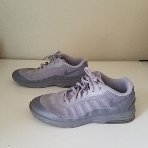Nike Air Shoes Gray and Purple Girls Size 3